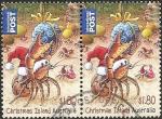 Stamps : Oceania : Australia :  Crab carrying Christmas Gift (Chritmas Island)
