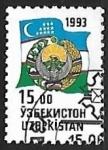 Stamps Asia - Uzbekistan -  Armas y bandera nacional