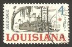 Stamps : America : United_States :  730 - 150 anivº del Estado de Lousiana