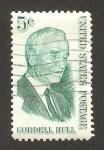 sellos de America - Estados Unidos -  750 - Cordell Hull, politico y nobel de la paz