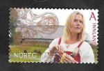 Stamps : Europe : Norway :  1795 - Mujer vikinga