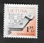 Stamps Lithuania -  950 - Instrumento musical tradicional Kankles