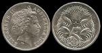 monedas de Oceania - Australia -  Australia: 5 Cents (Echidna) 2002 km401