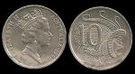 monedas de Oceania - Australia -  Australia: 10 Cents 1990 km81