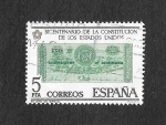Stamps : Europe : Spain :  Edf 2324 - Bicentenario de la Independencia de los Estados Uniddos
