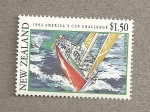 Stamps Oceania - New Zealand -  Copa América de Vela