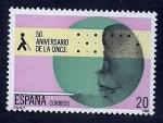 sellos de Europa - España -  50 Aniv.de la O.N.C.E.