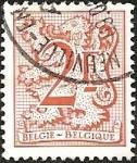 Stamps Belgium -  Heraldic lion