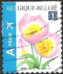 Stamps : Europe : Belgium :  Tulip Bakeri Selfadh. Top imperforate