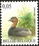 Stamps : Europe : Belgium :  Little Grebe (Tachybaptus ruficollis)