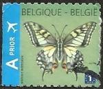 Sellos del Mundo : Europa : Bélgica : Swallowtail (Papilio machaon) - Left imperforate