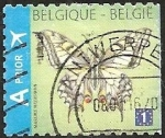 Sellos del Mundo : Europa : Bélgica : Swallowtail (Papilio machaon) - Right imperforate