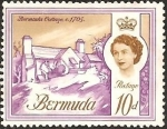 Stamps : America : Bermuda :  Bermuda Cottage, 1705