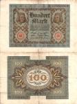 monedas de Europa - Alemania -  Alemania 100 Marcos  Nov 1, 1920 P-69b