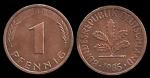 monedas de Europa - Alemania -  Alemania 1 Pfennig (A, D, F, G, J) 1985 km105
