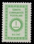 Stamps Turkey -  TURQUIA_SCOTT O98 $0.2