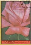 sellos de Asia - Emiratos Árabes Unidos -  FLORES- ROSA