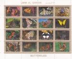 Stamps : Asia : United_Arab_Emirates :  MARIPOSAS