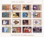 Stamps : Asia : United_Arab_Emirates :  HISTORIA DE LOS JUEGOS OLIMPICOS