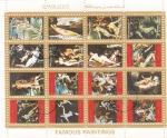 Stamps United Arab Emirates -  PINTURAS FAMOSAS DESNUDOS