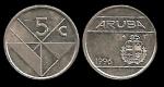 monedas del Mundo : Europa : Holanda :  ARUBA 5 Cents 1996 km1