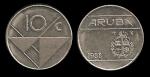monedas del Mundo : Europa : Holanda :  ARUBA 10 Cents 1988 km2