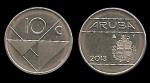 monedas del Mundo : Europa : Holanda :  ARUBA 10 Cents 2013 km2