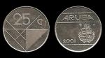 monedas del Mundo : Europa : Holanda :  ARUBA 25 Cents 2001 km3