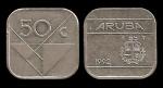 monedas del Mundo : Europa : Holanda :  ARUBA 50 Cents 1992 km4