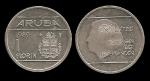 monedas del Mundo : Europa : Holanda :  ARUBA 1 GUIDEN 1989 km5