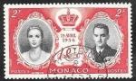 Stamps : Europe : Monaco :  474 - Grace Kelly  y Príncipe Rainiero