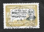 Stamps : America : Colombia :  443 - 85 Anivº del nacimiento del compositor Alberto Castilla