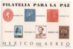Sellos del Mundo : America : México : HOJA SOUVENIR -FILATELIA PARA LA PAZ