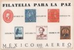 Stamps : America : Mexico :  HOJA SOUVENIR FILATELIA PARA LA PAZ