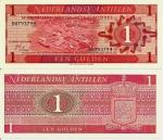 monedas del Mundo : America : Antillas_Neerlandesas :  Netherlands Antilles 1 Gulden Sep 8,1970 P-20a