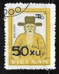 Stamps Vietnam -  Retrato de Nguyen Trai (heroe nacional)