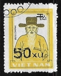 Sellos de Asia - Vietnam -  Retrato de Nguyen Trai (heroe nacional)