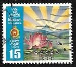 Sellos de Asia - Sri Lanka -  Flor nacional