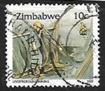 Sellos de Africa - Zimbabwe -  Minería
