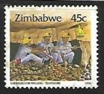 Sellos del Mundo : Africa : Zimbabwe : Trabajadores