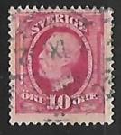 Stamps Sweden -  King Oscar II