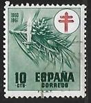 Sellos de Europa - España -  Pro-tuberculosis - lampara y velas