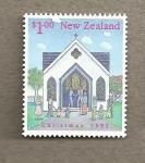 Stamps New Zealand -  Navidad 1992