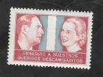 Sellos de America - Argentina -  Viñeta - Obsequio a nuestros queridos descamisaditos