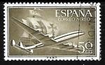 Sellos de Europa - España -  Superconstellation and 'Santa Maria'