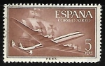 Stamps Spain -  Superconstellation and 'Santa Maria'