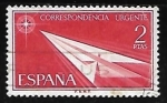 Sellos del Mundo : Europa : España : Aeroplano de papel
