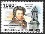 Stamps : Africa : Burundi :  1274 - Beethoven