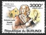 Stamps : Africa : Burundi :  1275 - Vivaldi