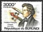 Stamps : Africa : Burundi :  1276 - Chopin
